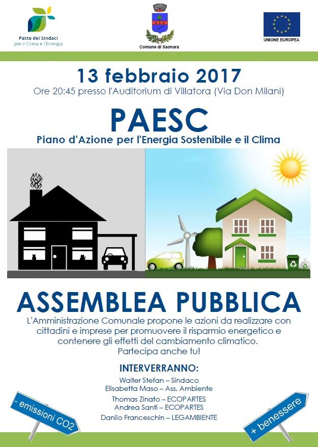 PAESC: Piano d'Azione per l'Energia Sostenibile e il Clima