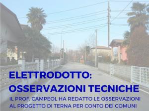 Elettrodotto Venezia – Padova : le osservazioni nel dossier del prof. Campeol