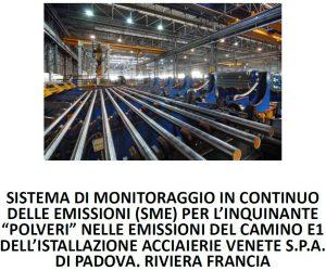 Monitoraggio in continuo di Acciaierie Venete S.p.A. e la relativa relazione semestrale