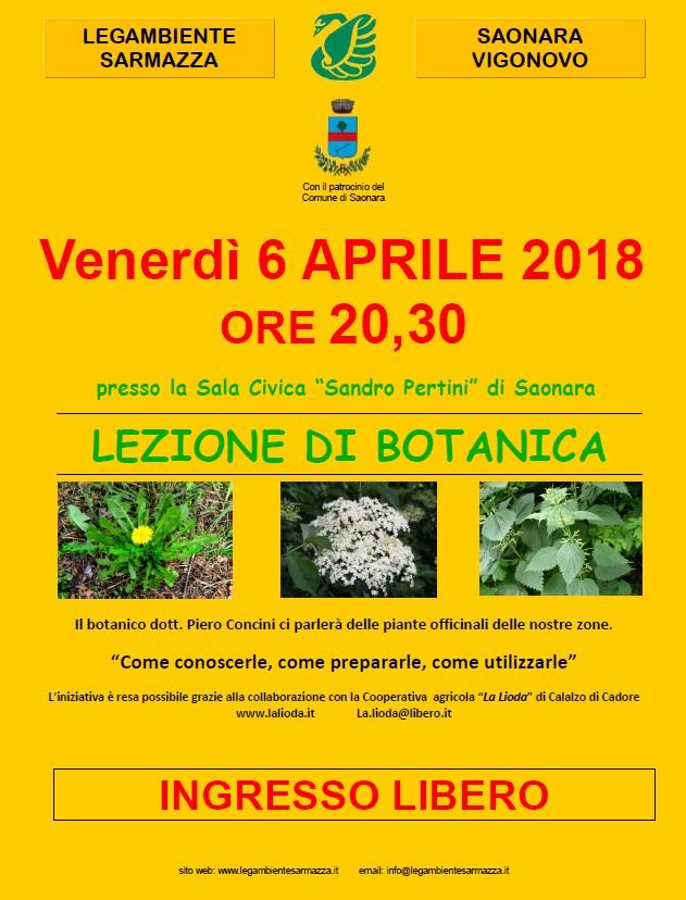 """Lezione di Botanica Venerdì 6 Aprile """"18"""