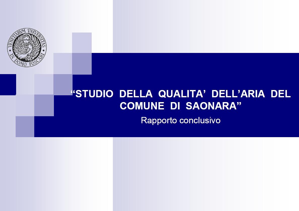 Studio qualità Aria anno 2005