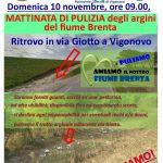 Pulizia degli argini del  fiume Brenta prevista per domenica 10 nov 2019